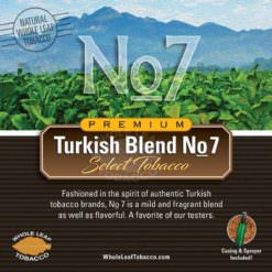 Turkish Blend No.7 Tobacco, 1lb.