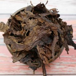 Fire Cured Threshed Tobacco- Stacked